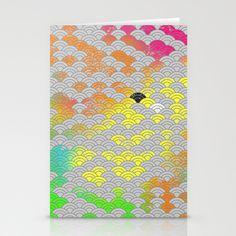 japanese pattern Stationery Cards by mauro mondin - $12.00