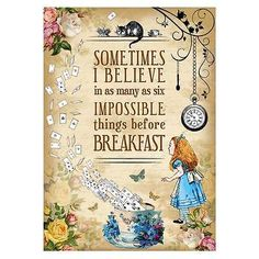 Alice in Wonderland Party / Mad Hatter Tea party Vintage A4 Art Print, Quote in Home, Furniture & DIY, Celebrations & Occasions, Party Supplies | eBay