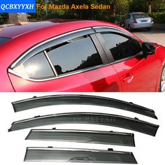 Car Stylingg Awnings Shelters 4pcs/lot Window Visors For Mazda Axela Sedan 2014-2016 Sun Rain Shield Stickers Covers