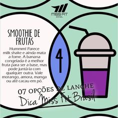 Essa dica No 4 de lanchinhos é ótima nesse calor  Bastante gelo  fruta  água = smoothie bem show para este calor.  Você pode usar ainda uma ou duas doses de WHEY  um pouco de banana ou abacate para dar uma encorpada  gelo. Fica sensacional!  Só não abuse da quantidade de frutas pois apesar de super saudáveis elas possuem a frutose que é o açúcar da fruta.  ______________________________________________________  #missfitbrasil #lifestylefitness #lindaatetreinando #amamostreinar  #bestrong…