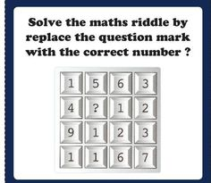 Solve the riddle Question Mark, Riddles, Knowledge, This Or That Questions, Math, Rolodex, Puzzle, Math Resources, Early Math