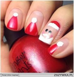 świąteczne paznokcie