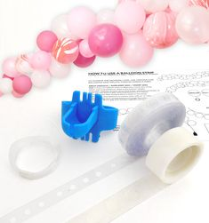 Balloon Garland Arch Tool Pack - Balloon Tape, Tool, Glue, String