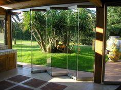 Folding frameless aluminium glass facade GIEMME SYSTEM® - Giemme Home by GM MORANDO