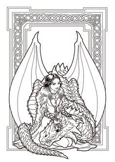 Dragon Enchantressby DeviantAshtareth DeviantArt Colouring PagesAdult Coloring PagesColoring