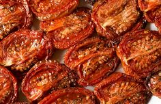 Slow-roasting transforms a great tomato, or even a not-so-great tomato into a luscious, flavor-dense, chewy treat. Clean Eating Recipes, Healthy Recipes, Slow Roasted Tomatoes, Valentines Day Dinner, Valentine's Day, Dinner Menu, Pumpkin Recipes, Vegetable Recipes, Veggies