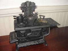 Antique Cast Iron Eagle Miniature Toy Stove by BarnshopAntiques