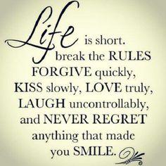 never regret.