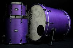 SJC Custom Drums - Purple Satin  Delicious.