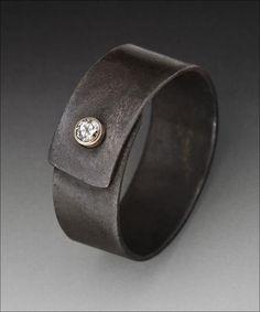 Peg Fetter, ring. steel, gold, diamond