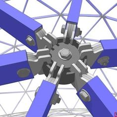 Steel geodesic dome hub system sketch up drawings by taff goch
