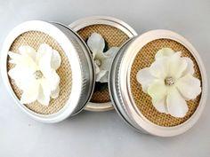 Decorative Mason Jar Lids Burlap Mason Jar Lid by YoursTrulli, $1.75