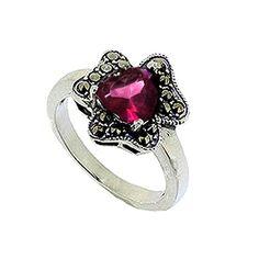 Silver Diamond Cut Marcasite Pink Heart on Flower Ring Bauyaun http://www.amazon.com/dp/B00NUDK8X8/ref=cm_sw_r_pi_dp_0Cp2ub1K9AA78