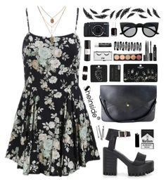 """""""SheIn 7"""" by scarlett-morwenna ❤ liked on Polyvore featuring Topshop, Stila, Pop Beauty, Chapstick, Eight & Bob, BOBBY, Forever 21 and Essie"""