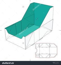 Display Tray Box With Blueprint Layout Stock Vector Illustration 172608464 : Shutterstock
