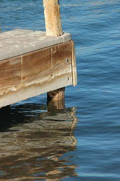Dock reflection - Pecos River, Carlsbad, NM
