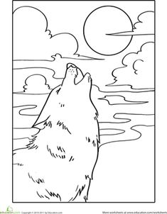 Big Coloring Pages Of Animals | page from WOLF coloring pages for ...