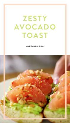 Delicious and zesty avocado toast