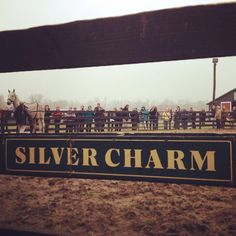 Thank you to everyone who braved the elements to welcome #SilverCharm back to the US & to our farm! Come back soon!