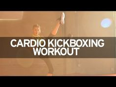 ▶ Cardio Kickboxing Workout - YouTube Love her accent. 8 min. workout with a short warm-up.