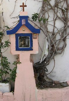 Paleohora Wayside Shrine near Crete, Greece