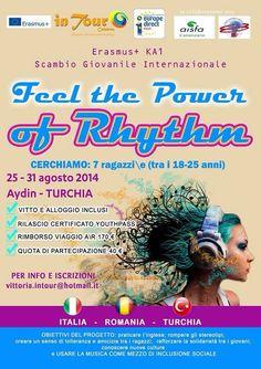 25th-31th Aug 2014. Aydin, Turchia. Feel the Power of Rhythm. Youth Exchange
