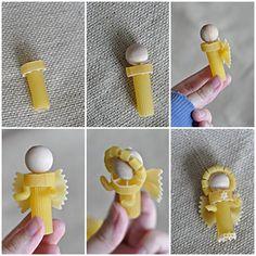 idée facile et originale: anges en pâtes
