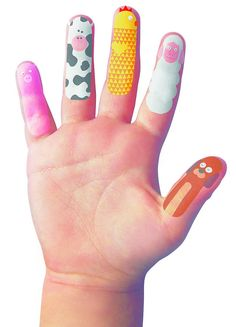 Finger Temporary Tattoos  by The 3 Bears One Stop Gift Shop  £5 plus 95p delivery uk
