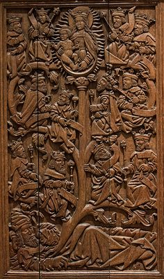 O Radix Iesse  Late Medieval panel in the Museum of Scotland of the Jesee  Tree,wich  shows the ancestry  of Christ.
