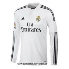 Nueva Camiseta del Real Madrid Manga Larga Primera 2014-2015 Chandal Real  Madrid 734536450024d