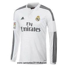 Nueva Camiseta del Real Madrid Manga Larga Primera 2014-2015