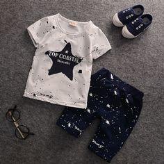 cd053cc33ecb6 Conjunto Bebe Baby Boy Stars kids Summer Roupas Importadas