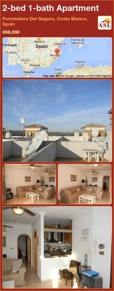 2-bed 1-bath Apartment in Formentera Del Segura, Costa Blanca, Spain ►€68,000 #PropertyForSaleInSpain