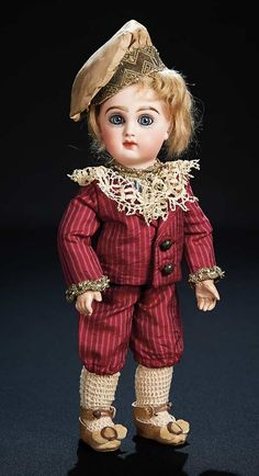 "Theriault's - 9.5"" Petite French Bisque Bebe by Emile Jumeau, c 1886"