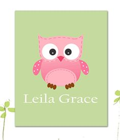 Personalized Children's Name PrintOwl Print  by HeartworkMemories, $24.00