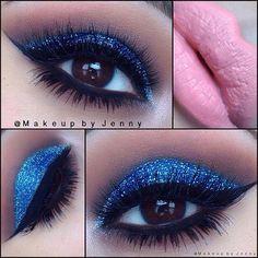 bright blue glitter