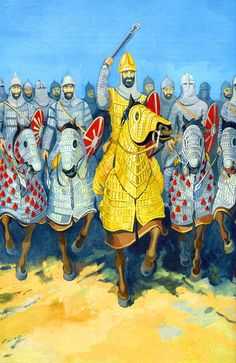 Battle of Callinicus. Iranian heavy cavalry preparing to charge Ancient Near East, Ancient Rome, Persian Warrior, Greek Antiquity, Sassanid, Crusader Knight, Ancient Persian, Ancient Mesopotamia, Persian Culture