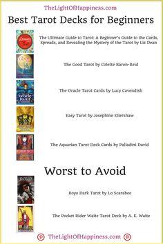 6 Best Tarot Decks for Beginners, Plus 2 to Avoid Buyers Guide) Best Tarot Decks, Tarot Cards For Beginners, Oracle Tarot, Buyers Guide, Happiness, Bonheur, Happy, Being Happy, Pot Luck