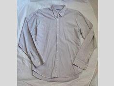 Men's Steven Alan Barneys NY Classic Reverse Seam Pocket Stripe Slim Fit Shirt L | eBay