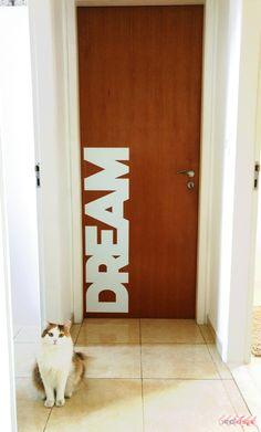 DIY: Como decorei minhas portas sem gastar muito. Papel ContactInteresting ...