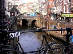 Utrecht, Netherlands - Spent about a week there (in Montfort on business). Walked these shops & restaurants surrounding the canals.