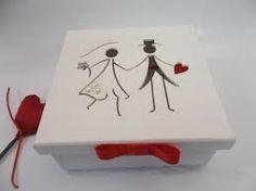caixa em mdf de lembrança de casamento
