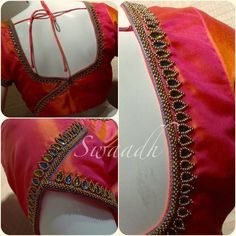blouse designs Indian bridal sari saree blouse designs 33 Ideas for 2019 Indian bridal sari saree blouse designs 33 Ideas for 2019 - Cutwork Blouse Designs, Pattu Saree Blouse Designs, Simple Blouse Designs, Stylish Blouse Design, Blouse Back Neck Designs, Bridal Blouse Designs, Sari Blouse, Choli Designs, Saris