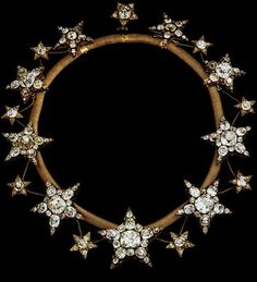 A wreath of stars to put in your hair, is there anything lovelier?  Diamond stars tiara worn by Queen Amelia of Portugal.