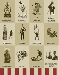 vintage circus acts