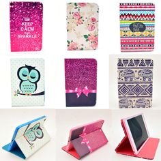 New Cute Cartoon Animal Smart Folio PU Leather Stand Case Cover for Tablet