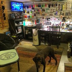 Amazing fly-tying room - Skinny Water Culture