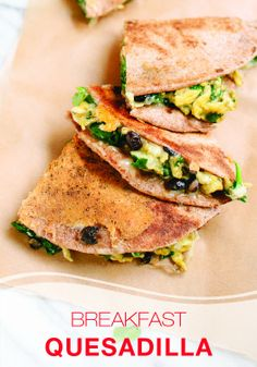 Make mornings easier with these fast breakfast Quesadillas! Great for in the car on the way to school