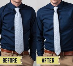 Turn your standard tie into a skinny tie with this simple DIY and give your look an update instantly!