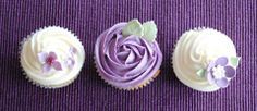 Purple rose cupcakes by the Handmade Cake Company